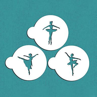 Ballerina Cookie Stencil Set, Cake Side Stencil, Cookie Stencil, Wall Stencil,ST-343