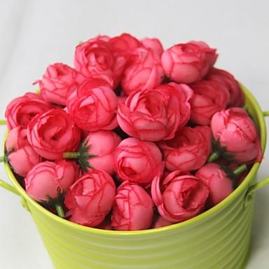 Kunstige blomster 1 Gren Enkel Stil Roser Bordblomst