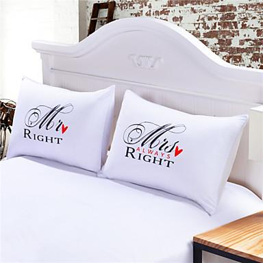 Komfortabel 2Stk Putevar Overtrekk (Kun 1 Stk Humbug For Enkelt Eller Dobbelt), Bomull/Polyester Bomull/Polyester 230TC Nyhet