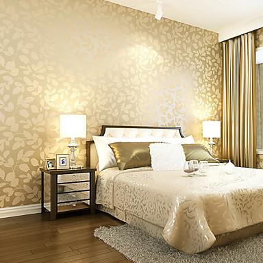 Δέντρα/Φύλλα Αρχική Διακόσμηση Σύγχρονο Κάλυψης τοίχων, Μη υφαντό Χαρτί Υλικό ταπετσαρία, δωμάτιο Wallcovering