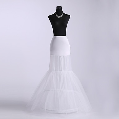 Wedding Special Occasion Slips Polyester Tulle Netting Floor-length Mermaid and Trumpet Gown Slip With Dyed