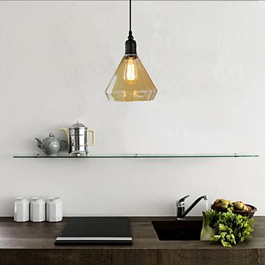 Rétro Traditionnel/Classique Rustique Lampe suspendue Pour Chambre à coucher Bureau/Bureau de maison Couloir Garage Ampoule non incluse