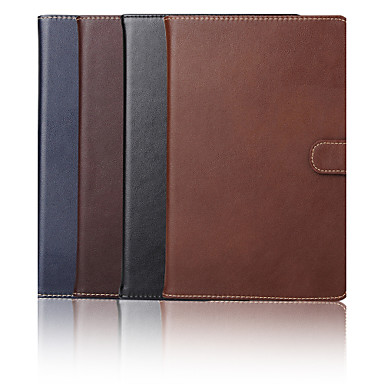 Case For Apple Card Holder / with Stand Full Body Cases Solid Colored Genuine Leather for iPad Mini 4