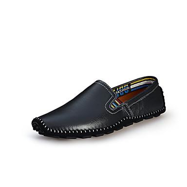 Erkek Ayakkabı Tüylü Yaz / Sonbahar Makosenler Mokasen & Bağcıksız Ayakkabılar Günlük / Ofis ve Kariyer için Bej / Kahverengi / Mavi