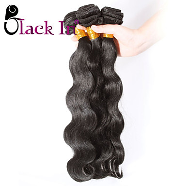 Brazilian Hair Body Wave Human Hair Weaves 3 Pieces 0.45