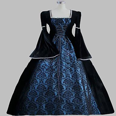Gothic Lolita Steampunk® Viktoriánské Satyna Damskie Sukienki Cosplay Długi rękaw Długi Długość