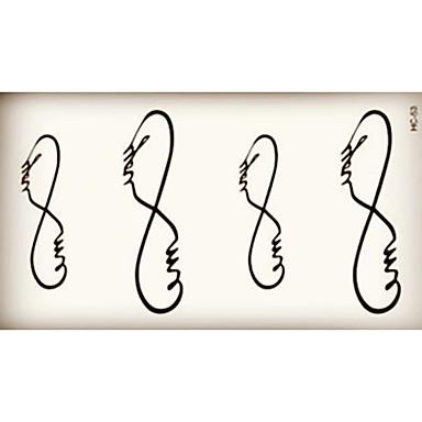 10 - Autres - Noir - Motif - 6*10.5cm (2.36*4.13in) - en Papier - Tatouages Autocollants - Brand New -Bébé / Enfant / Homme / Girl /