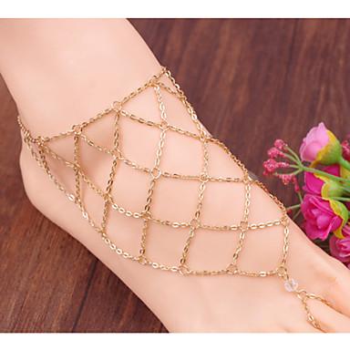 Kadın's Ayak bileziği / Bilezikler alaşım Vintage Sevimli Parti İş Günlük İfade Takıları Geometric Shape Mücevher Uyumluluk