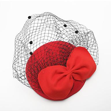 voordelige Hoeden-Tule / Fluweel Birdcage Veils met 1 Bruiloft / Speciale gelegenheden Helm