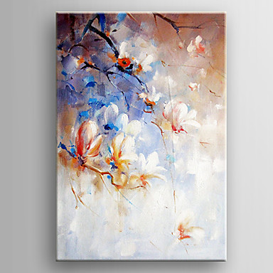 Oil Painting Hand Painted - Floral / Botanical Realism Canvas