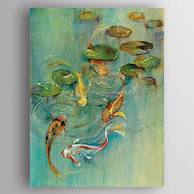 Oil Painting Hand Painted - Animals Modern Canvas