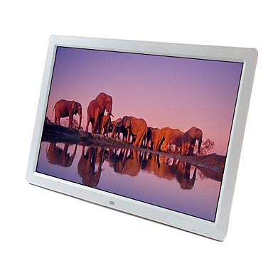 17 hüvelykes 1440 * 900 nagy felbontású, 16: 9 / 1080p wifi digitális LED kijelző képkeret mozgásérzékelő támogatott SD / MMC / MS / usb