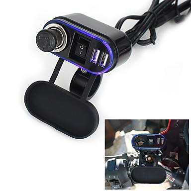 12v-24v vízálló autó motorkerékpár dual socket töltő USB Power Adapter