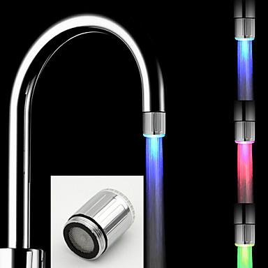 Nykyaikainen Pöytäasennus LED Harjattu, Kitchen Faucet