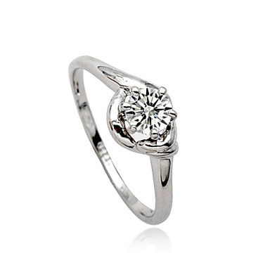 Women's Statement Ring - Crystal, Imitation Diamond, Alloy Personalized, Luxury, European 7 Silver For Party / Daily / Casual