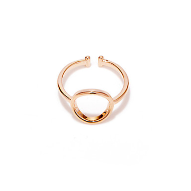 Women's Rose Gold Plated Open Ring