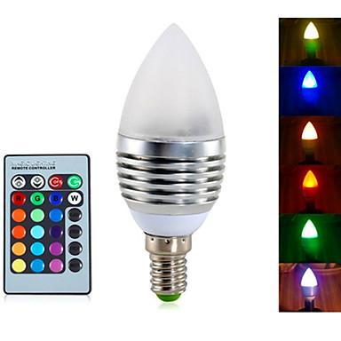 YWXLIGHT® 4W 300-350 lm E14 LED-lysestakepærer A60(A19) 3 leds Integrert LED Mulighet for demping Dekorativ Fjernstyrt RGB AC 85-265V