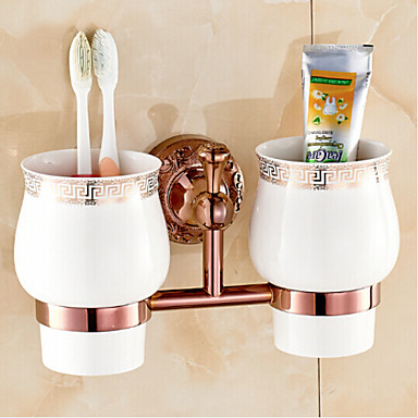 Toothbrush Holder Neoclassical Brass Zinc Alloy 1 pc - Hotel bath