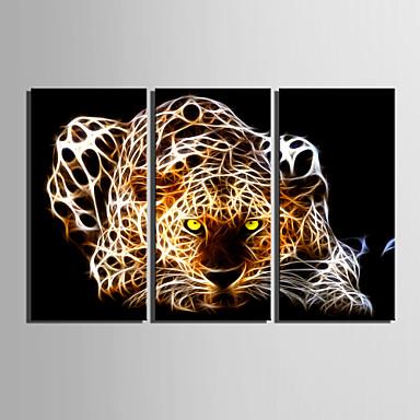 abordables Toiles-Imprimé Impressions sur toile roulées - Animaux Classique Trois Panneaux Art Prints