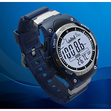 Men's Wrist watch LCD Altimeter Compass Thermometer Calendar Chronograph Water Resistant / Water Proof Dual Time Zones Sport Watch Digital