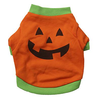 Katze Hund Kostüme T-shirt Hundekleidung Orange Baumwolle Kostüm Für Haustiere Herrn Damen Cosplay Modisch Halloween