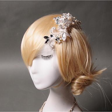 Imitação de Pérola Strass Rede Pentes de cabelo 1 Casamento Ocasião Especial Casual Capacete