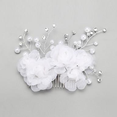 Women's Rhinestone Crystal Alloy Imitation Pearl Headpiece-Wedding Special Occasion Hair Combs 1 Piece