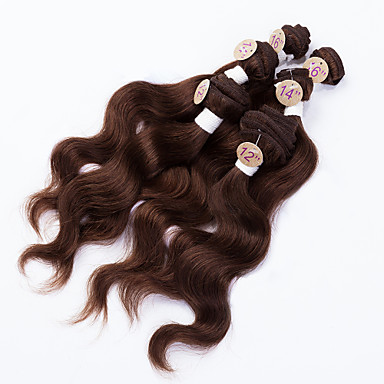 baratos Extensões de Cabelo Natural-Cabelo Brasileiro Onda de Corpo 8A Cabelo Humano Cabelo Humano Ondulado Tramas de cabelo humano Extensões de cabelo humano