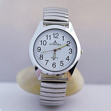 Homens Relógio de Pulso Relógio Casual Aço Inoxidável Banda Amuleto Prata / TY 377A