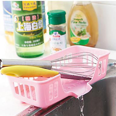 Kitchen Sink Drain Shelves PP Random Color