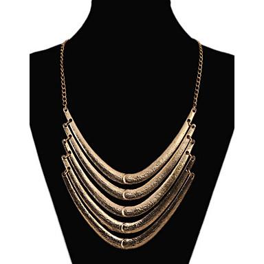 Damen Layered Ketten Statement Ketten - Mehrlagig Erklärung Europäisch Farbbildschirm Modische Halsketten Für