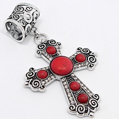 moda bağbozumu anti-ailver moda elmas çapraz tophus eşarp toka veya kolye