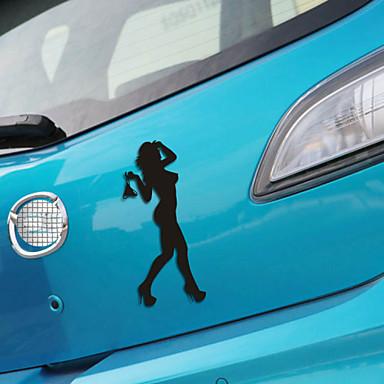 Komik güzellik hanımefendi araba sticker araba pencere duvar çıkartma araba styling