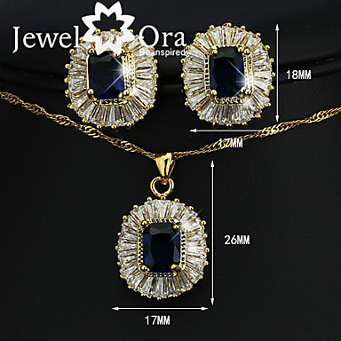 1964df84e High End Crystal Jewelry Set Gold Plated Vintage, Party, Work, Casual,  Fashion, Elegant Include Dark Blue For Party Special Occasion Anniversary  Birthday ...