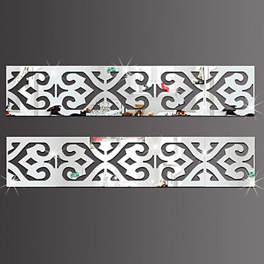 Lazer Adesivos de Parede Autocolantes de Parede Espelho Autocolantes de Parede Decorativos, Vinil Decoração para casa Decalque Parede