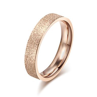 Kadın's Band Yüzük - Titanyum Çelik Moda 6 / 7 / 8 Altın Uyumluluk Düğün / Parti / Günlük