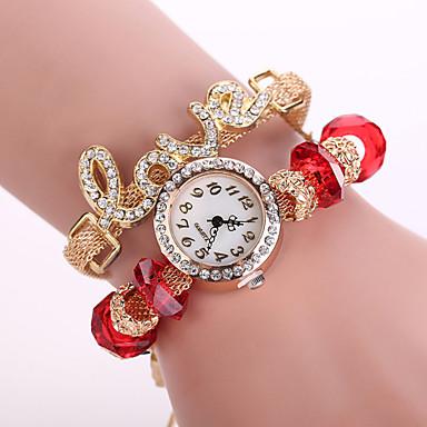 Xu™ Mulheres Relógio de Moda Quartzo Tecido Banda Preta Branco Azul Vermelho Verde Rosa Amarelo Vermelho Verde Azul Rosa claro Azul Claro
