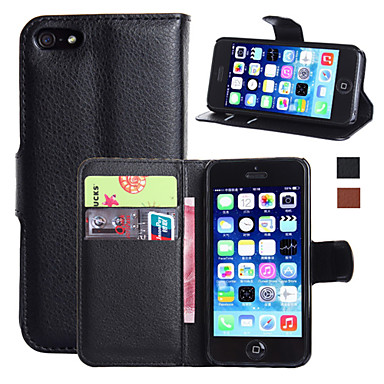 Case For Apple iPhone 7 / iPhone 7 Plus / iPhone 6 Plus Wallet / Card Holder / with Stand Full Body Cases Solid Colored Hard PU Leather for iPhone 7 Plus / iPhone 7 / iPhone 6s Plus