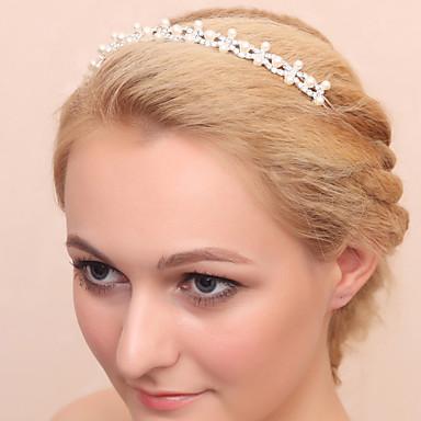 Imitation Pearl Rhinestone Alloy Headbands 1 Wedding Special Occasion Headpiece
