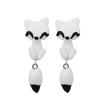 Women's Stud Earrings - Animal Fashion White For Daily / Casual