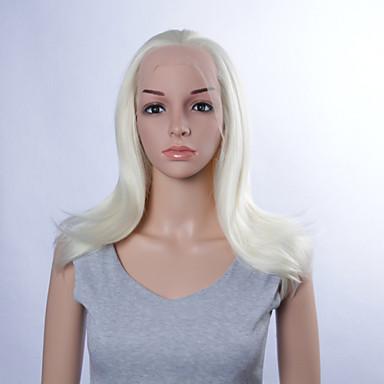 Kvinder Syntetiske parykker Blonde Forside Rett Blond costume Parykker