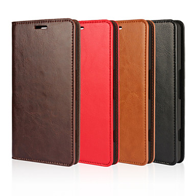 Etui Til Nokia Lumia 950 / Annet / Nokia Etui Nokia Lommebok / Kortholder / med stativ Heldekkende etui Ensfarget Hard ekte lær til
