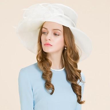 voordelige Hoeden-organza hoeden hoofddeksel huwelijksfeest elegante klassieke vrouwelijke stijl