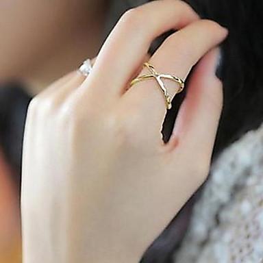 Χαμηλού Κόστους Μοδάτο Δαχτυλίδι-Γυναικεία X δακτύλιο Band Ring δαχτυλίδι αντίχειρα Ζιρκονίτης Κράμα Καρδιά Love κυρίες Μοδάτο Δαχτυλίδι Κοσμήματα Ασημί / Χρυσαφί Για Καθημερινά Causal Αθλητικά 10
