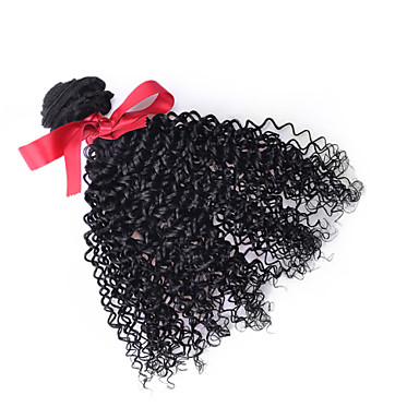 Malaysian Afro Curly Hair 1pcs Virgin Hair Kinky Curly Weave 100% Human Hair 7A Black Malaysian Hair Weft 100g/pcs
