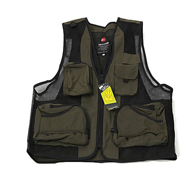 cheap Waders, Fishing Clothing-Men's Fishing Vest Vest / Gilet Breathable Multi-Pocket Fishing