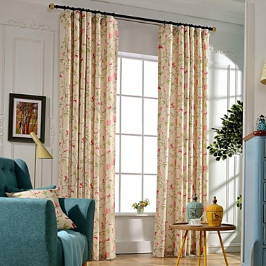 Curtains Drapes Bedroom Polyester Print