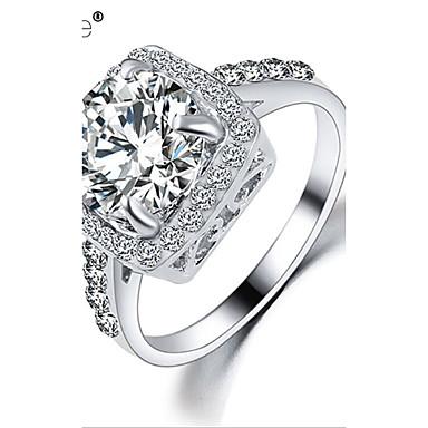 Dame Statement Ring - Zirkonium, Kubisk Zirkonium, Strass Mote 6 / 7 / 8 Sølv / Gylden Til Bryllup / Fest / Daglig / Gullbelagt / Legering
