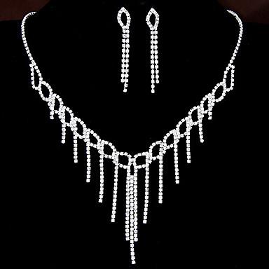 Damen Strass Aleación Halsketten Ohrringe Für Hochzeit Party Besondere Anlässe Geburtstag Verlobung Hochzeitsgeschenke