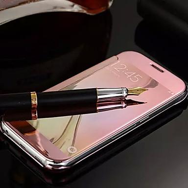 Case Kompatibilitás Samsung Galaxy Samsung Galaxy tok Tükör Flip Héjtok Tömör szín PC mert S6 edge plus S6 edge S6 S5